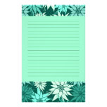 Turquoise Flowers Stationery