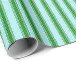 [ Thumbnail: Turquoise & Forest Green Colored Pattern Wrapping Paper ]
