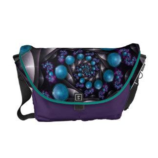 Turquoise fractal Gem Bag Commuter Bag