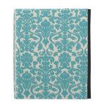 Turquoise French Damask iPad Folio Cover