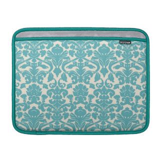 Turquoise French Damask Sleeve For MacBook Air