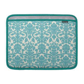 Turquoise French Damask MacBook Sleeve