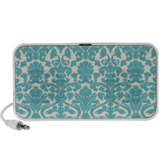 Turquoise French Damask Notebook Speakers