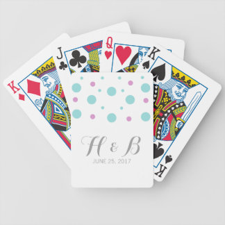 Turquoise Fuchsia Confetti Playing Cards