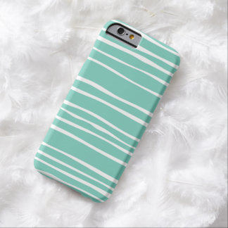 Turquoise Funky Striped iPhone 6 case