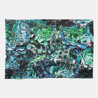 Turquoise Garden of Glass Hand Towels