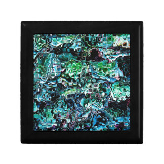 Turquoise Garden of Glass Jewelry Box