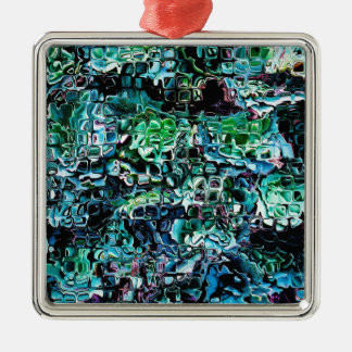 Turquoise Garden of Glass Metal Ornament