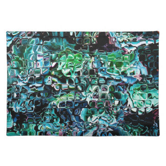 Turquoise Garden of Glass Placemat