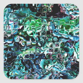 Turquoise Garden of Glass Square Sticker