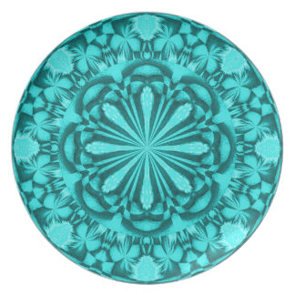 Turquoise Garden Plate