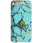 Turquoise Gemstone Gold Matrix Barely There iPhone 6 Plus Case