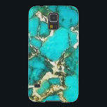 "Turquoise Gemstone with Pyrite Matrix Galaxy S5 Case<br><div class=""desc"">&#169;2014 WhimsicalArtwork Protect your Smartphone with this turquoise stone texture. This is NOT real Turquoise even though it may look as though it is. Enjoy.</div>"