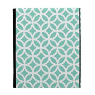 Turquoise Geometric iPad Case