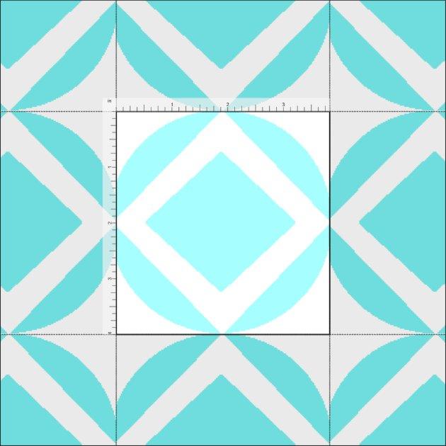 Turquoise Geometric Pattern Fabric | Zazzle