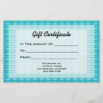 Turquoise Gift Certificate