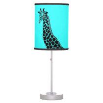 Turquoise Giraffe II - Taple Lamp