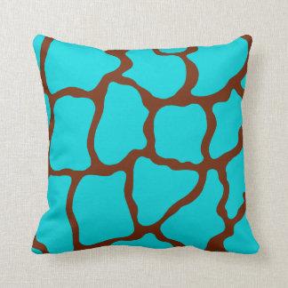 Turquoise Giraffe Pillow