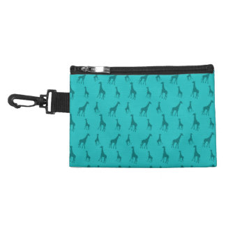 Turquoise giraffes accessory bags