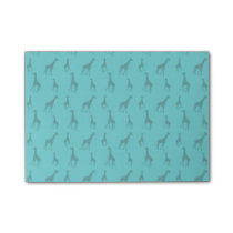Turquoise giraffes post-it notes