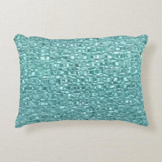 Turquoise Glass Decorative Pillow