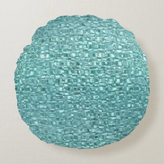 Turquoise Glass Pillow Round Pillow