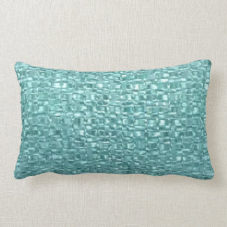 Turquoise Glass Throw Pillow