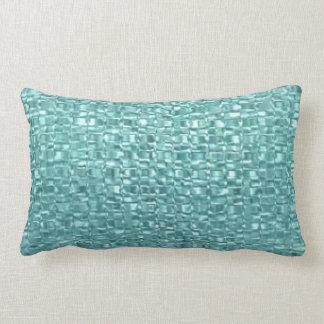 Turquoise Glass Throw Pillow