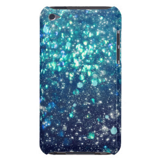 Turquoise Glitter Barely There iPod Cover