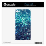 Turquoise Glitter Decals For The iPhone 4S