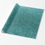 Turquoise glitter gift wrap