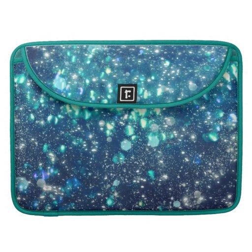 Turquoise Glitter MacBook Pro Sleeves