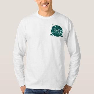 Turquoise Glitter Mustache Pattern Your Monogram T-Shirt