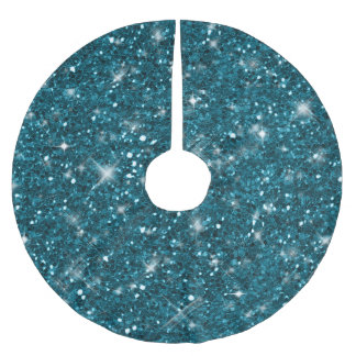 turquoise glitter pattern id144 brushed polyester tree skirt - Glitter Christmas Tree