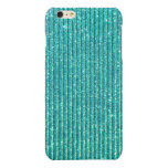 Turquoise Glitter Print Background Glossy iPhone 6 Plus Case