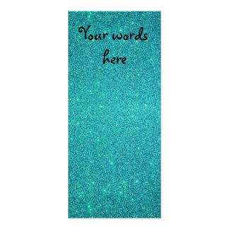 Turquoise glitter rack card