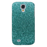 Turquoise glitter samsung galaxy s4 cases