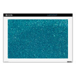 "Turquoise Glitter Sparkles 17"" Laptop Decals"