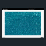 "Turquoise Glitter Sparkles 17&quot; Laptop Skins<br><div class=""desc"">Turquoise Glitter Sparkles.</div>"