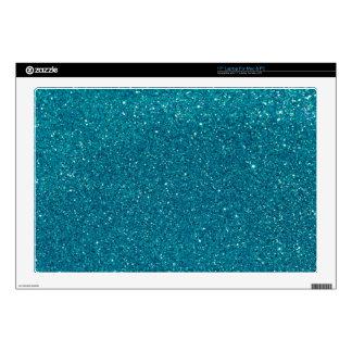 "Turquoise Glitter Sparkles 17"" Laptop Skins"