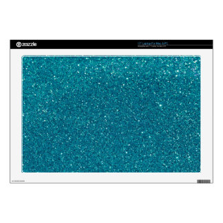 """Turquoise Glitter Sparkles 17"""" Laptop Decals"""