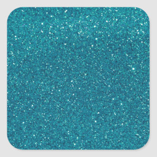 Turquoise Glitter Sparkles Square Sticker