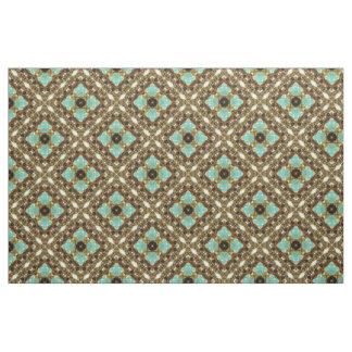 Turquoise & Gold Diagonal Fabric