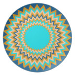 Turquoise Gold Festive Plate
