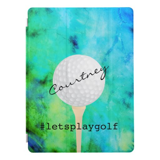 turquoise golfing to personalize for golfers iPad pro cover