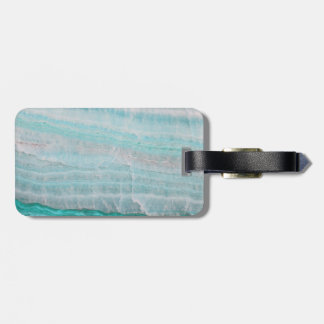 Turquoise Granite Stone Layered Wave Print Tag For Bags