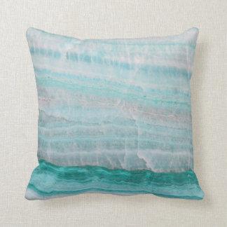 Turquoise Granite Stone Layered Wave Print Pillows