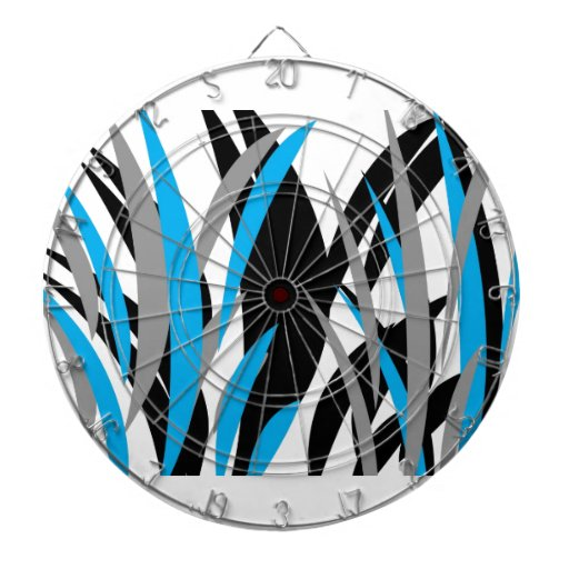Turquoise Grass Design Dartboard With Darts