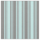 [ Thumbnail: Turquoise & Gray Lined/Striped Pattern Fabric ]