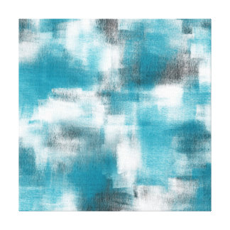 Turquoise Gray White Abstract Canvas Print